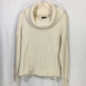 American Eagle | Cowl Neck Cable Knit Sweater
